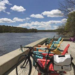 bikes next to the river