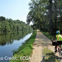 Bike trail along a canal in New Jersey