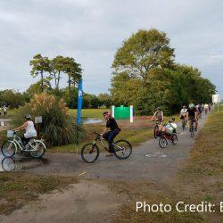 Bikers on Kings Highway Trail in Myrtle Beach