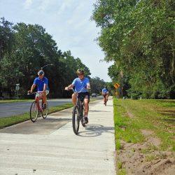 Bikers on Tabby Trail in Georgia