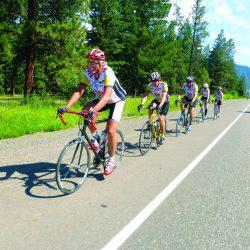Bikers on tour of Blue Ridge Parkway