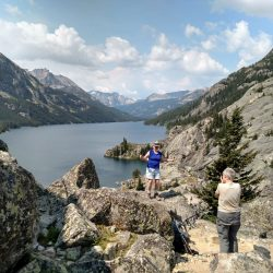 Photgraphing Lost Lake in the Beartooth Mountains