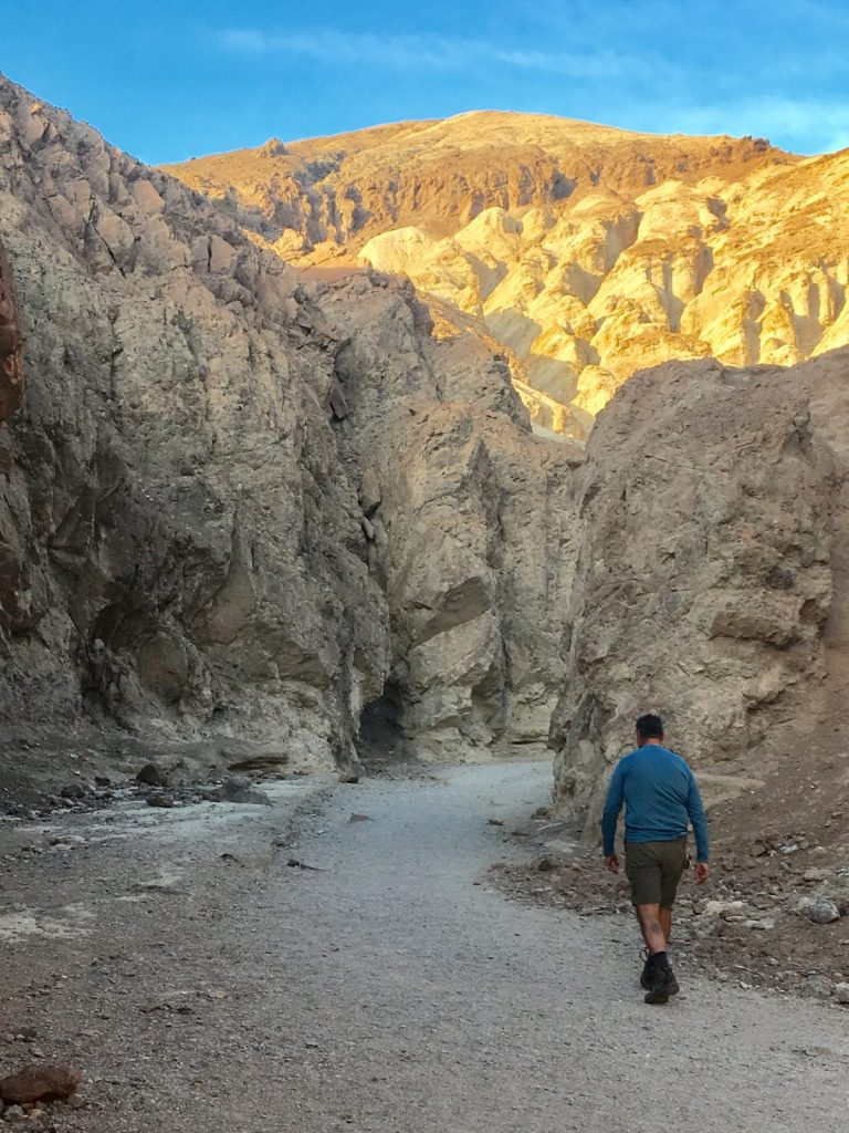 Walking the canyons of Death Valley