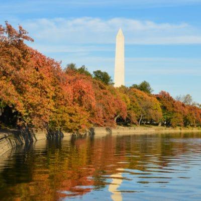 washington dc in the fall, washington monument