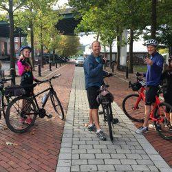 Bikers along the East Coast Greenway