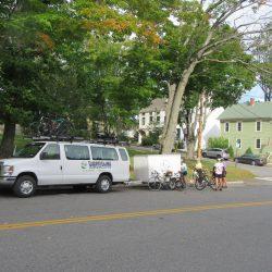 white van in Maine