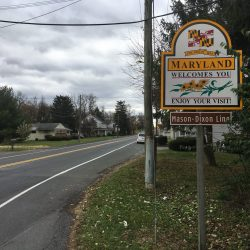 Maryland sign along East Coast Greenway tour