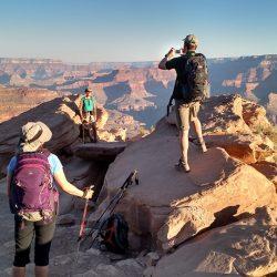 hikers on rocks