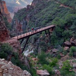 canyon with a bridge