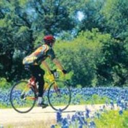 Cycling through bluebonnet country in Texas
