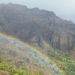 Rainbow in Waimea Canyon, Kauai, Hawaii