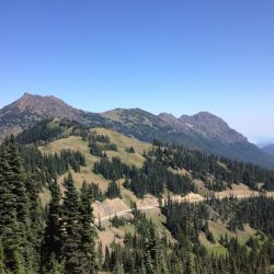 View from a hiking trail in North Cascades National Park