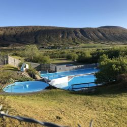 The Husafell hotsprings in Iceland