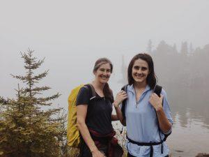 isle royale hiking foggy group