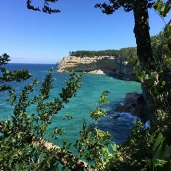 Isle Royal view of coastline on hiking trail with Timberline Adventures