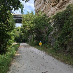 Katy Trail passes under I70 near St. Charles