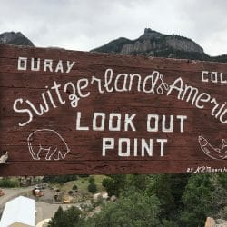 Switzerland America Look Out Point sign