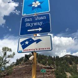 San Juan Skyway sign