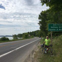 Crossing the 45th Parallel on Leelanau Peninsula