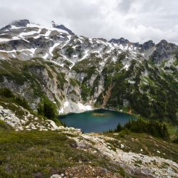 Lake on Sahale Arm trail in North Cascades National Park