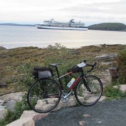 bike next to the ocean