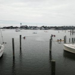 View of the docks in the Outer Banks