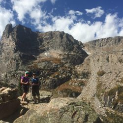 Hikers on a mountain in Colorado