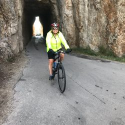 Cycling on the Needles Highway of South Dakota