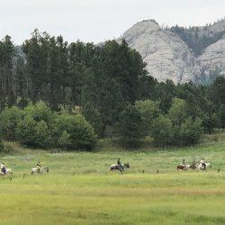 Horseback riding in the Black Hills of South Dakota