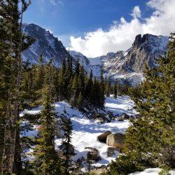 A winter scene in Rocky Mountain National Park