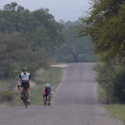 Cycling the hills from Blanco in the Texas Hill Country