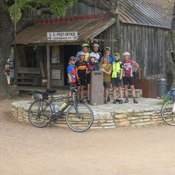 Visiting the post office in Luckenbach, Texas