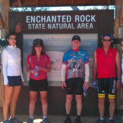 Taking a break at Enchanted Rock State Recreation Area