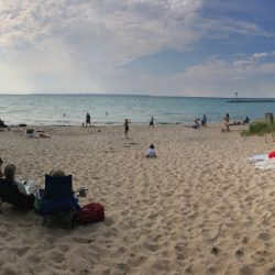 Relaxing on the beaches of Lake Michigan