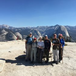 A group of hikers in Yosemite National Park
