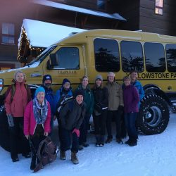 Yellowstone Snow Coach, winter at Old Faithful Lodge