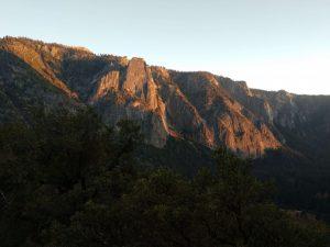 spring sunrise in Yosemite