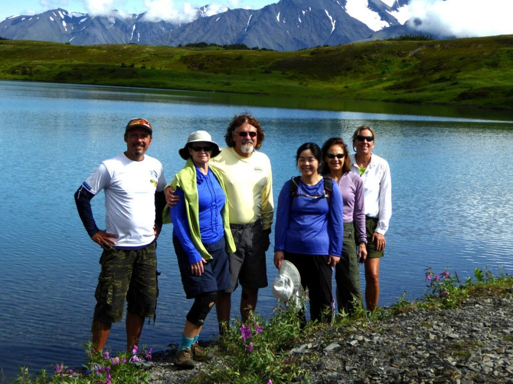 Group of hikers in Kenai Fjords National Park