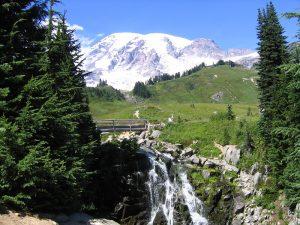 Myrtle Falls in Mt Rainier National Park