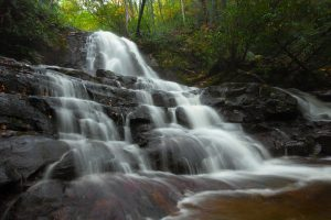 Laurel Waterfall in Great Smoky Mountains