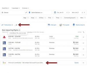 booking cheap flights with google flights dashboard