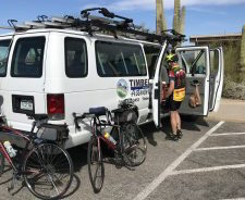 cycling van supported tour