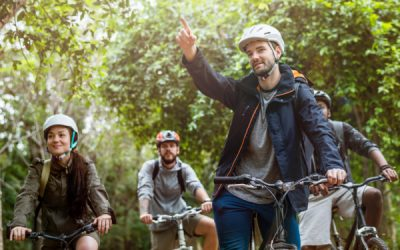 Group on an adventure cycling tour