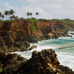 The cliffs of Kauai drop to the ocean