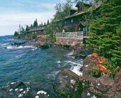 Rock Harbor Lodge on Isle Royale in Lake Superior