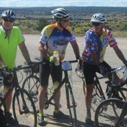 Bikers pose on an east coast bike tour