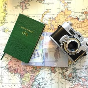 adventure journal and camera