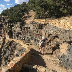 Hikers on a trail in Santa Fe