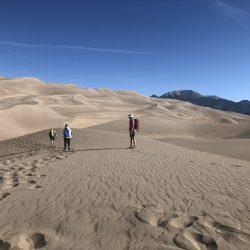 Hiking the sand dunes