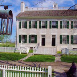 Historical shaker home on Blue Ridge Parkway bike tour